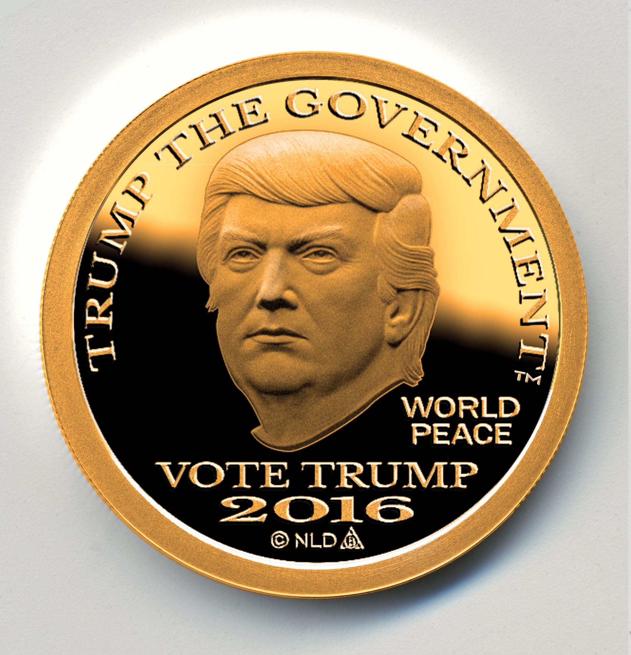 Trump Dollar, Gold Obverse